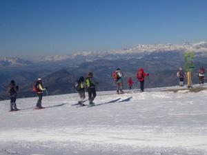 Raquette à Neige sur les Hauteurs de Chabanon et vue des hautes Alpes